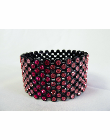 Graduated Rhinestone Bangle Bracelet