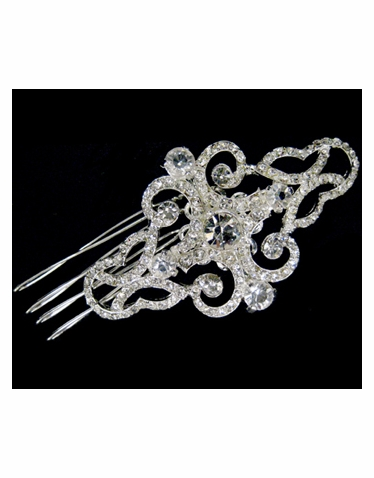 Wedding or Bridal Brooch or Hair Comb-303
