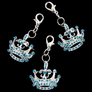 CLEARANCE: Crystal Rhinestone Crown Brooch and Keychain
