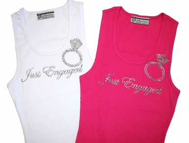 Just Engaged Rhinestone Tank for the Bride-to-Be