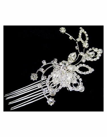 Wedding or Bridal Brooch or Hair Comb-307