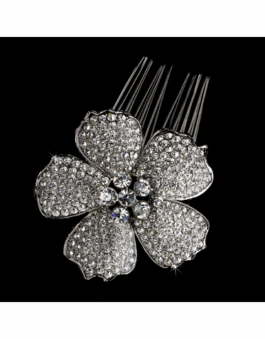 Wedding or Bridal  Flower Hair Comb