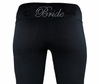 Rhinestone Bride Yoga Pants