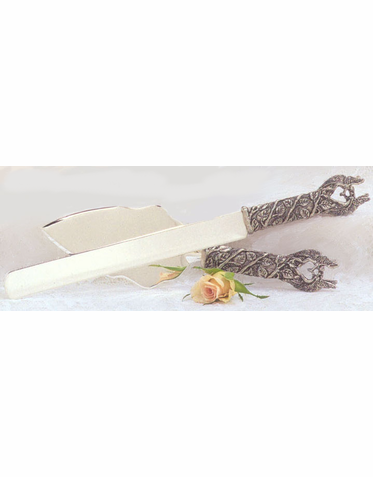 Kissing Fairies Knife and Server Set