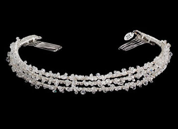 Jessica McClintock Triple Strand Crystal Headpiece JH033