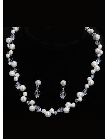 En Vogue Bridal Necklace & Earring Set NL1001