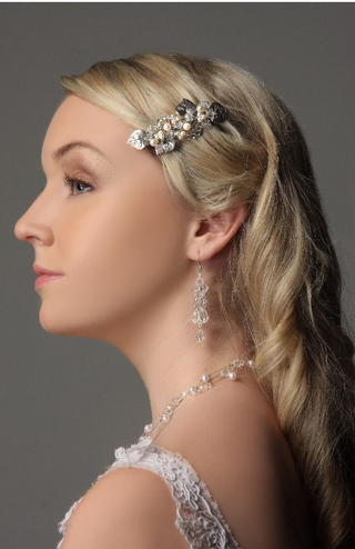 Hair Barrette: Antique Style Bridal Barrette IBB003