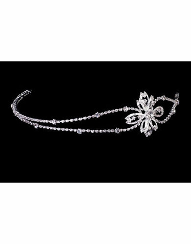 Rhinestone Flower Side Headband TR2261