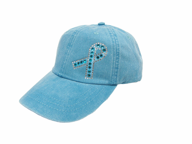 Teal Ribbon Cap - Ovarian Cancer Awareness Hat