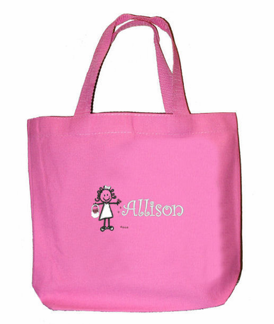 Personalized Flower Girl Tote Bag Embroidered with Name