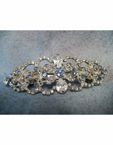 Hair Barrette: Ansonia Rhinestone Hair Barrette HP7708