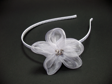 Custom Organza Flower Headband