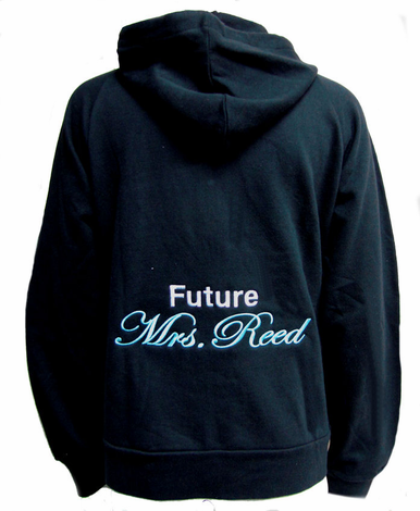 Personalized Bridal Hoodie with Two Fonts and Color Choices