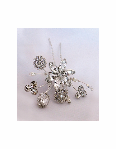 CLEARANCE: Erica Koesler Crystal Hairpin A5371T