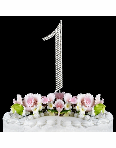 Number 1 Fully Covered Crystal Cake Number