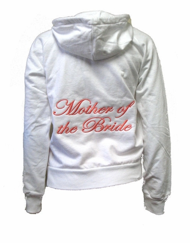 Embroidered Mother of the Bride Hoodie - Embroidered Mother of the Groom Hoodie