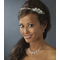Silver and Crystal Assymetrical Headband