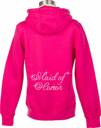 Rhinestone Bride and Bridesmaid Hoodies