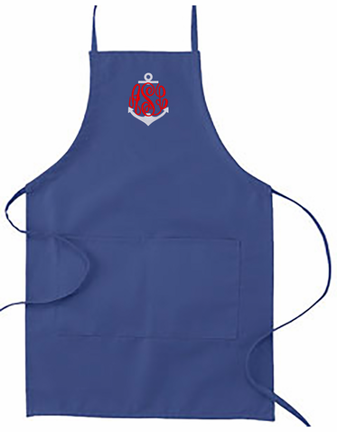 Embroidered Anchor Monogram Apron