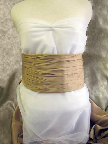 CLEARANCE! Ruched Silk Bridal Sash - In 14 Colors!