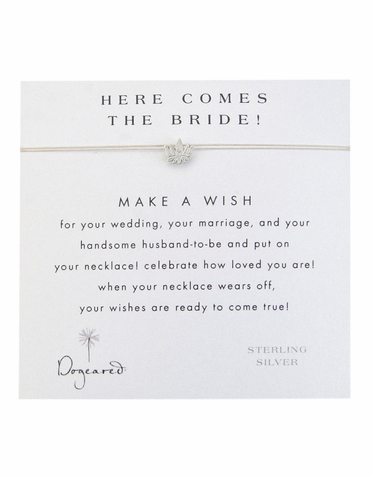 CLEARANCE: Dogeared Here Comes The Bride Necklace - Dogeared Make a Wish Necklace for the Bride