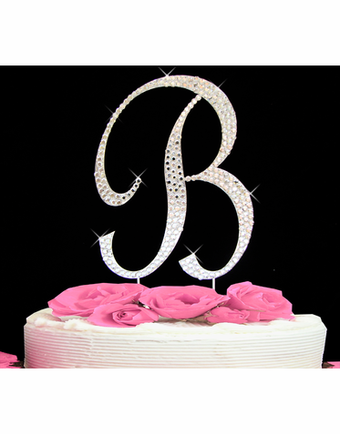 Cake Initial Toppers Letter Cake Topper B