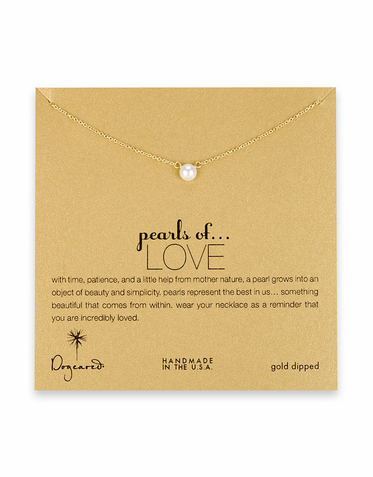 CLEARANCE: Dogeared Jewelry Pearls of Love Gold-Dipped Necklace