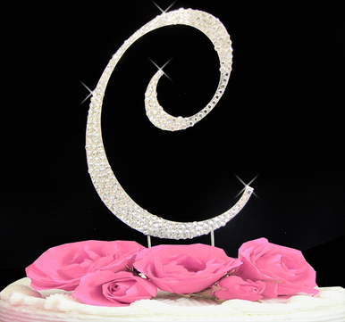 Letter Cake Topper Cake Initial Toppers C