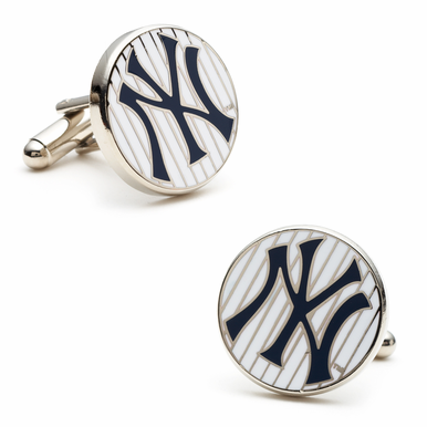 Officially Licensed NY Yankees Pinstripe Cufflinks