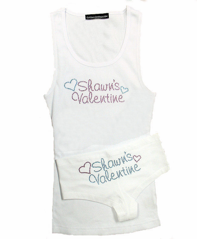 Valentine's Day T-shirt or Tank Top in Rhinestones