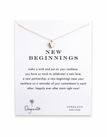 CLEARANCE: New Beginnings Reminder Necklace with Sterling Silver Kind Heart