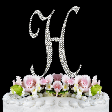 Letter Cake Topper Cake Initial Toppers H