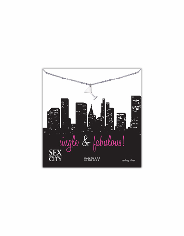 CLEARANCE: Sex and the City Single and Fabulous Martini Necklace by Dogeared