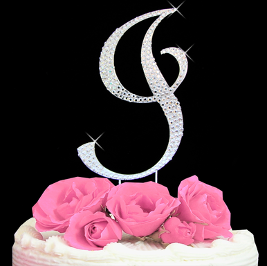 Letter Cake Topper Cake Initial Toppers I