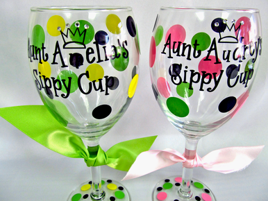 _________'s Sippy Cup Personalized Wine Glass