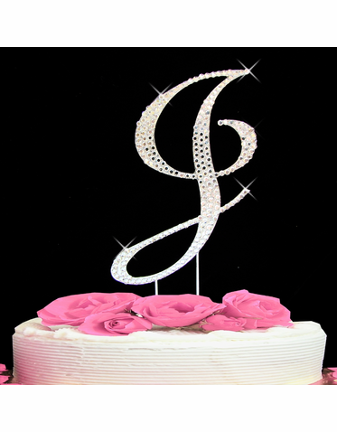 Letter Cake Topper Cake Initial Toppers J