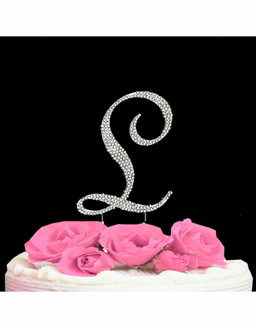 Letter Cake Topper Cake Initial Toppers L