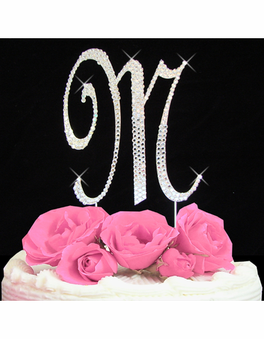 Letter Cake Topper Cake Initial Toppers M