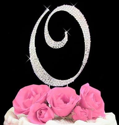 Letter Cake Topper Cake Initial Toppers O