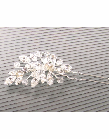 Carolina Amato Crystal Wedding Hair Pin