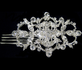 Wedding or Bridal Brooch or Hair Comb-304