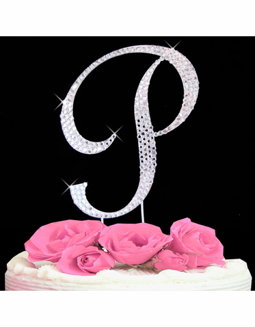 Letter Cake Topper Cake Initial Toppers P
