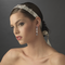 Bridal Ribbon Headpiece with Vintage Style Jewelry Accents