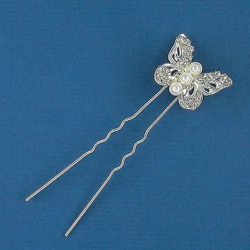 Butterfly Bridal Hairpins with Pearls