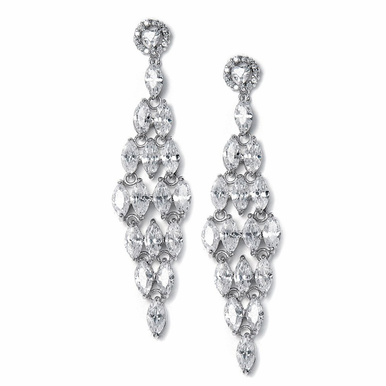 Gorgeous Marquis Stone Chandelier Earrings