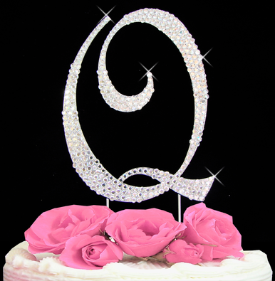 Letter Cake Topper Cake Initial Toppers Q