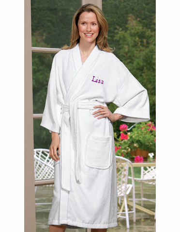 Personalized Terry Kimono Robe for the Bride or Groom