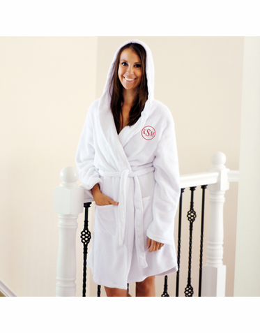 Plush Hooded Robe with Embroidered Personalization