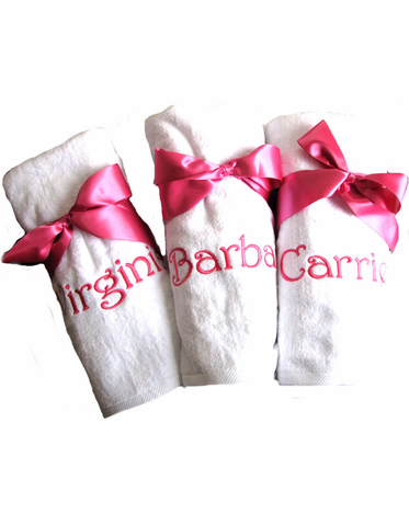 Personalized Beach Towel Gift Tied with Ribbon