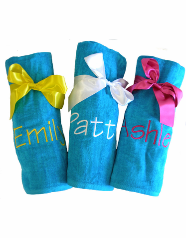 Custom Embroidered Beach Towel - Makes a Great Gift!